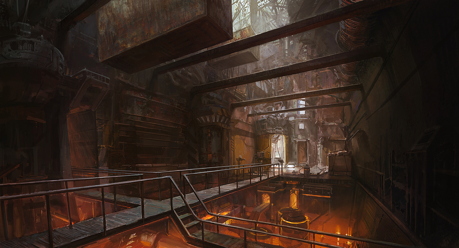 Sci-Fi industrial interior