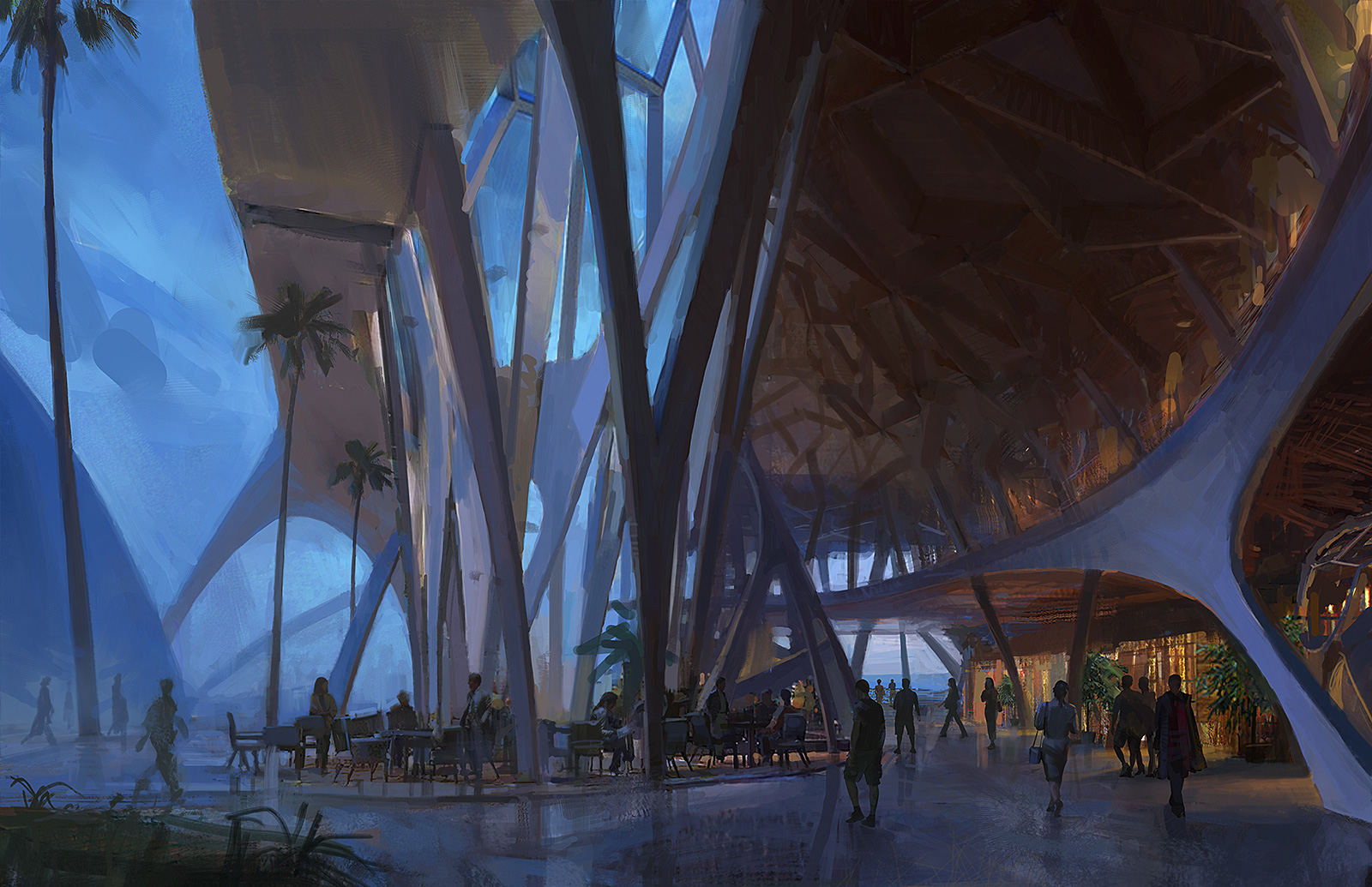 Futuristic Outdoor Plaza
